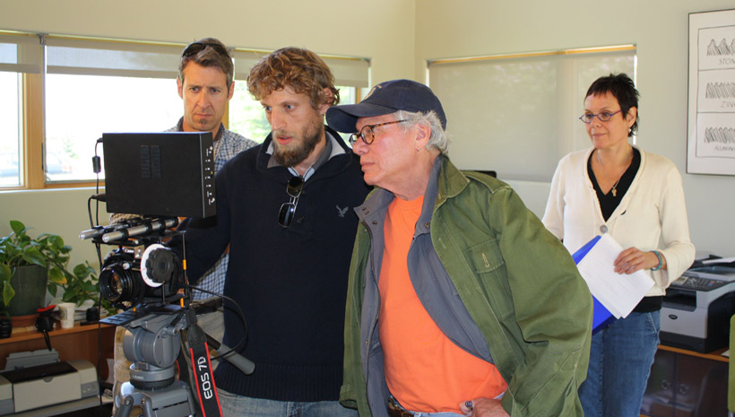Kevin Anderson (DP), Jason Digges (Cameraman), Ken Green (Director), and Lin Dunbrack (Exec Producer)