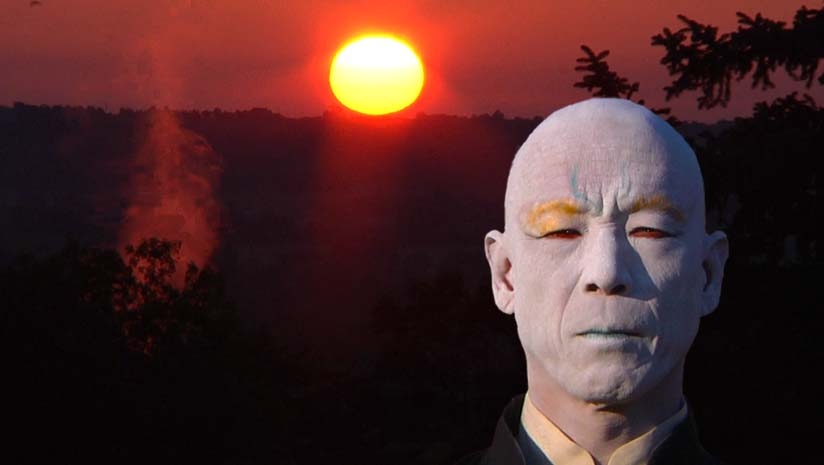Butoh Master, Katsura Kan as the Messenger of Death.